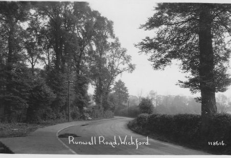 An early photo of Runwell Road.