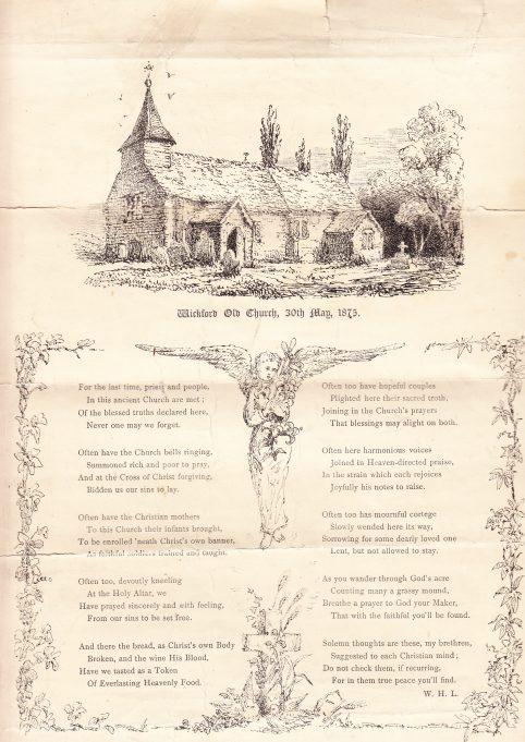 Wickford Old Church, 30 May 1873.