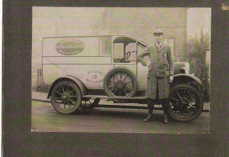 Mr. Charlie Simpson and English's Van.