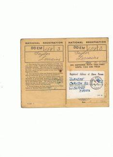 Inside Lorraine's ID card