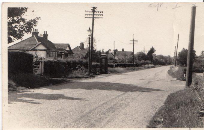Church Road, outside the shop