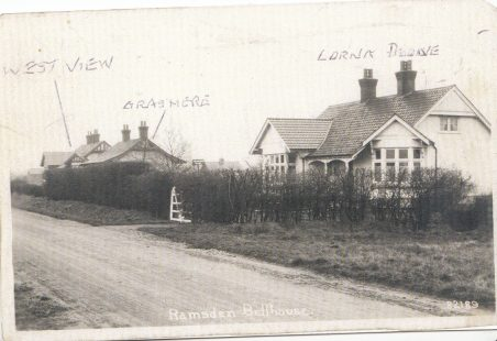 Church Road in Ramsden Bellhouse, and the original houses.