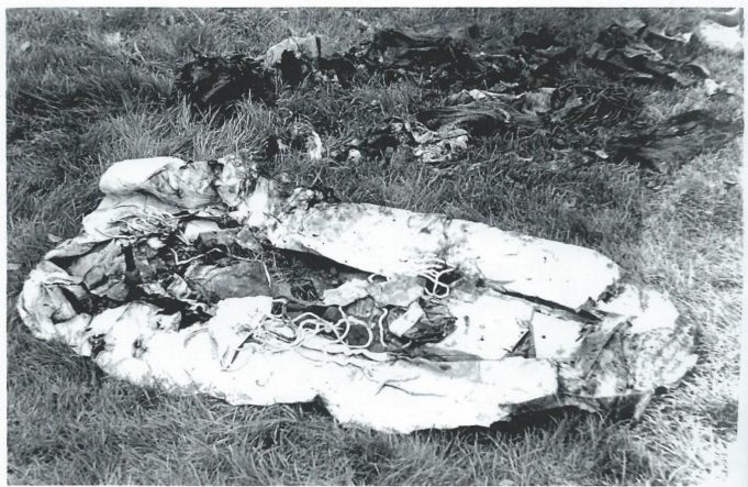 The parachute found at the Dornier crash site | Essex Aviation Group