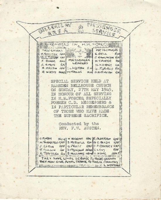 Order of Service | Basildon Heritage