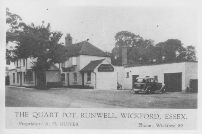 The Quart Pot pub, Runwell Road.