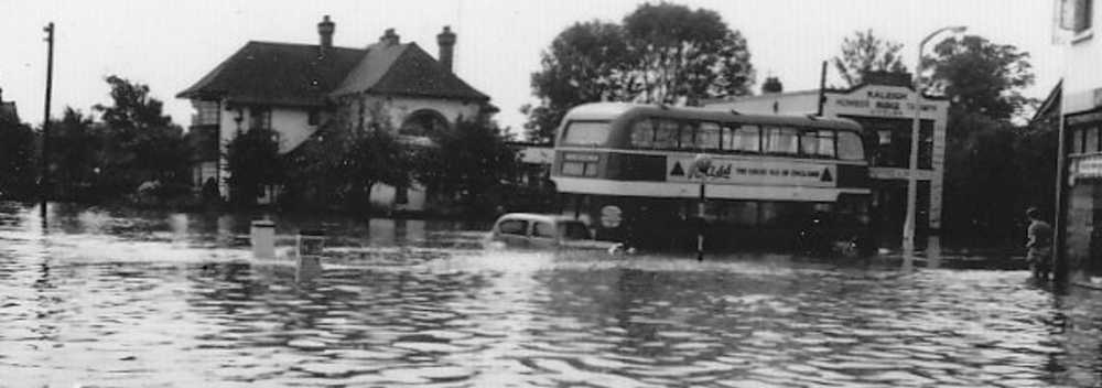 Hall's Corner in the 1958 flood
