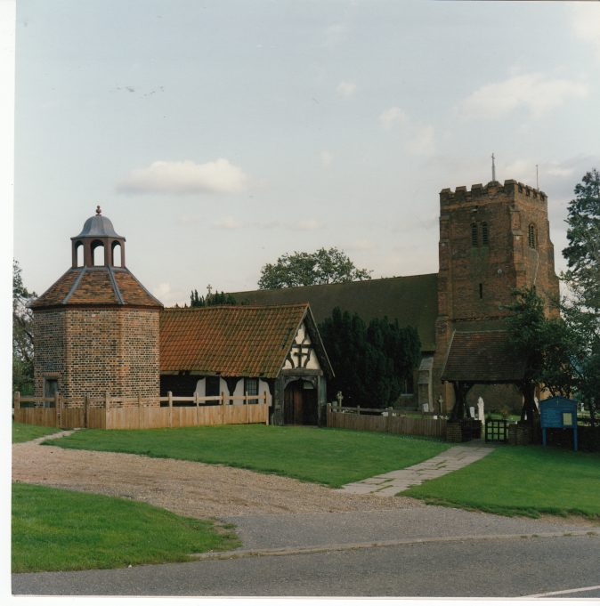 The Church today with the dovecote and stable | Downham Church Collection