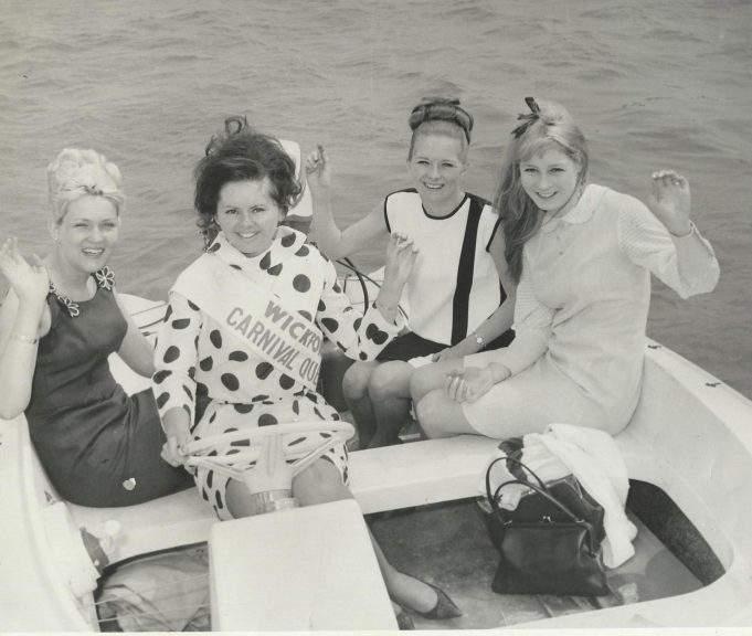 Carnival Queen Patricia Bird with her court on Silva Carter's boat 1966 | Jennifer Willatt