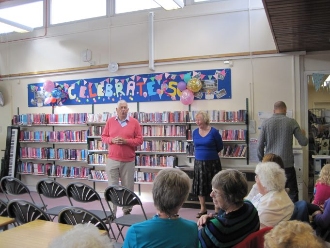 Geoff and I giving the talk | Wickford library