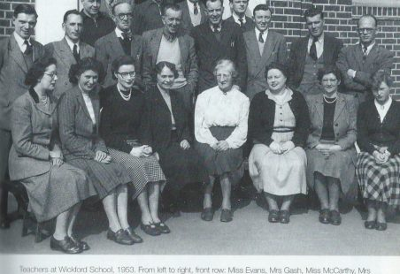 The teachers of Wickford Senior School, 1953