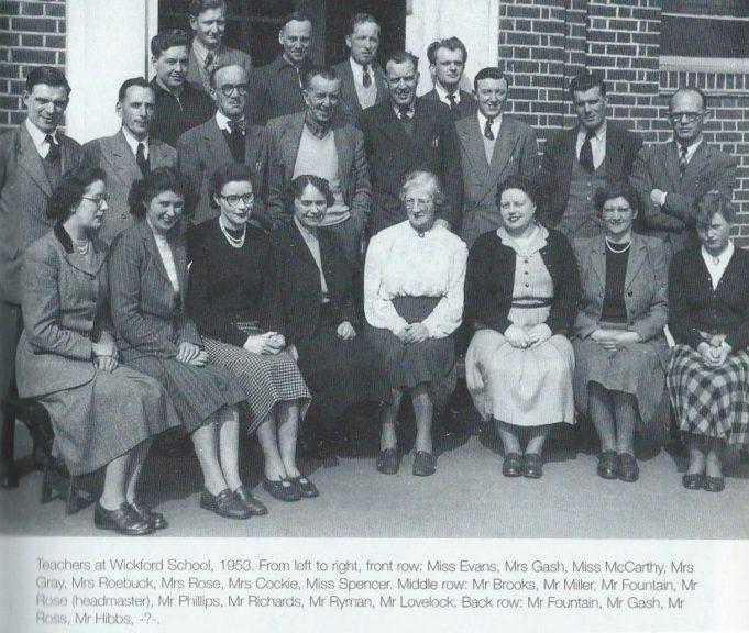 The teachers of Wickford Senior School, 1953 | From Jim Reeve's book