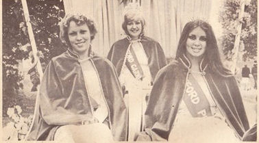 Wendy Cussons and her carnival court 1979