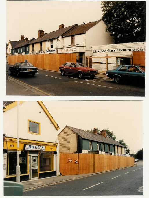 Changes at Hall's Corner in August 1987