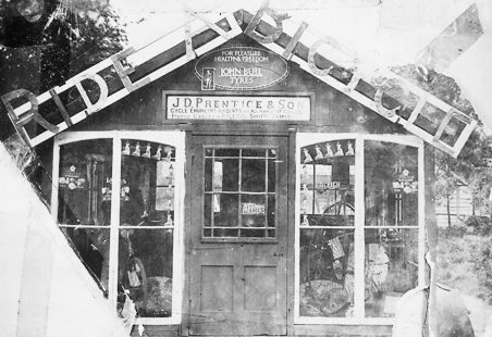 Prentice's first cycle shop
