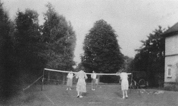 Tennis in the garden