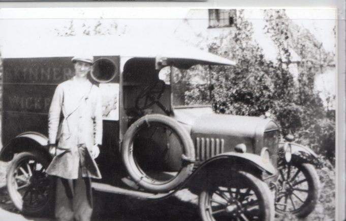 Harry Skinner with his delivery van | Isobel Johnson Collection