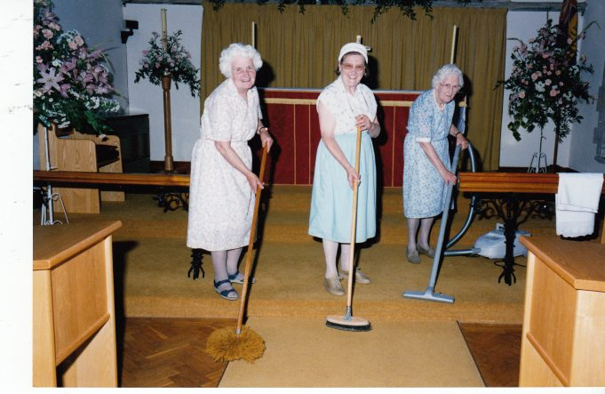 The ladies that keep the church clean and beautiful | Downham Church Collection