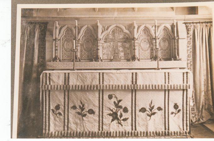 The altar before the fire | Downham Church Collection
