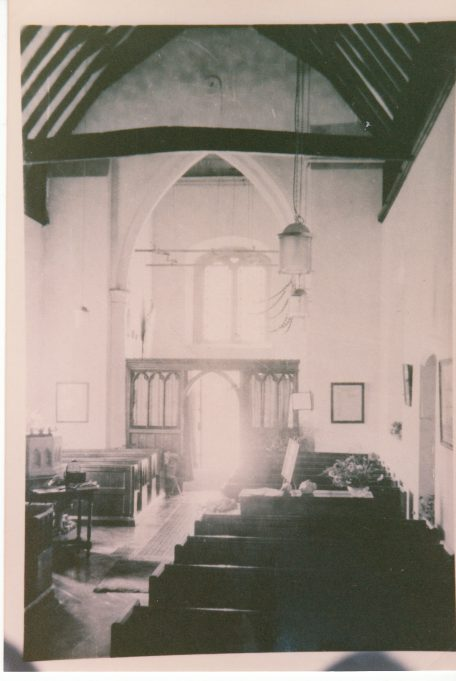 The back of the church before the fire | Downham Church Collection