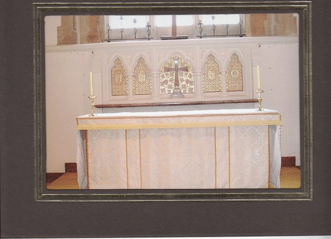 The replacement altar | Downham Church Collection