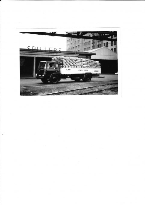 One of Hall's (Wickford) lorries picking up at the mill.