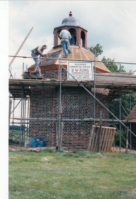 The dovecote, nearly finished. | Downham Church Collection