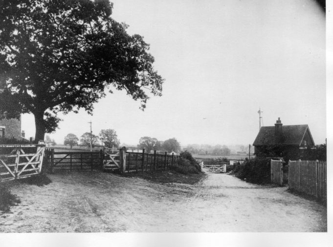 Wick Lane leading to the rail crossing