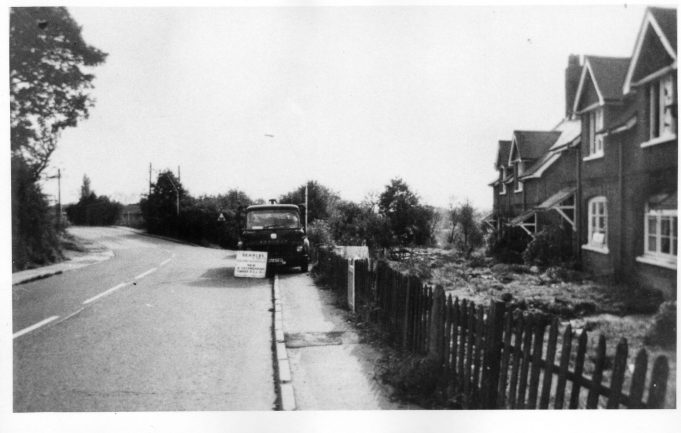 Wick Lane level crossing and railway cottages