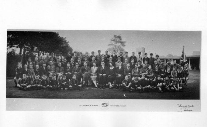 St. Georges School Wickford. Where was it?Do you recognise anyone in the photo?