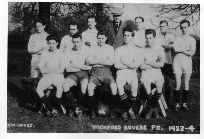 Wickford Rovers FC 1923-4.The man with a flat cap on at the rear was a Director of Southend United FC.The short man 2nd left at back is Mr Carter of Carter and Wards