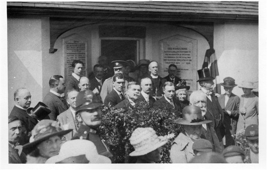 The opening of Wickford Nurse's Home. The policeman in the foreground is PC Bolden.