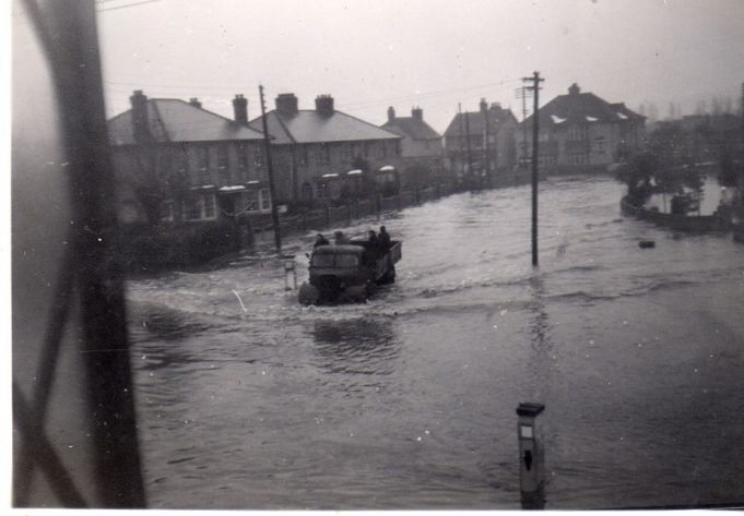 Views of Halls Corner - floods in the period between 1945 and 1948.