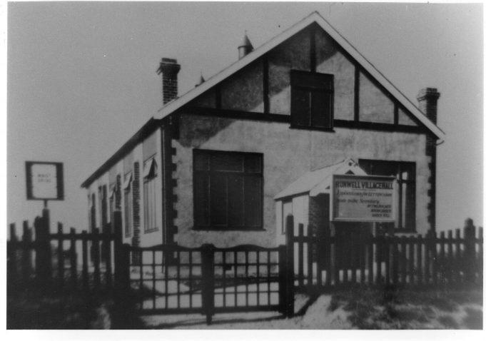 Runwell Village hall c1930