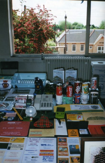Some of the items collected from Schools and other local organisations