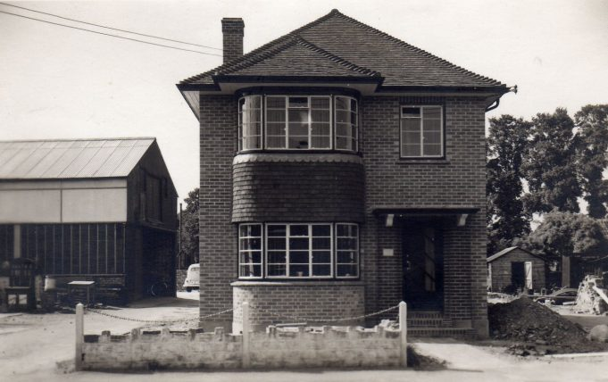 The original house was destroyed by fire in 1939 when this was built for the Harvey family who ran Wickford market.