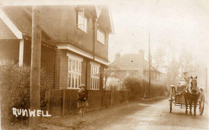 Brookside cottages, opposite the Quart Pot c.1920