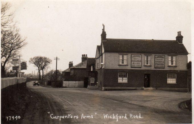 Carpenters Arms public house, Rawreth, near Wickford.