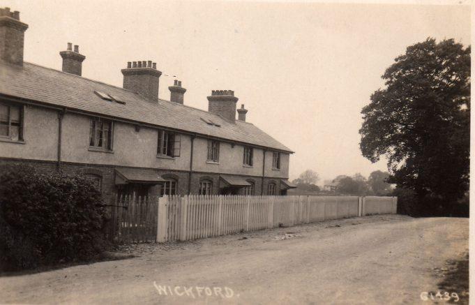 Wick Lane, railway men's cottages, c.1915 - 1930.