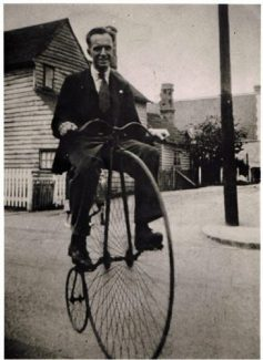Austin Prentice on penny farthing