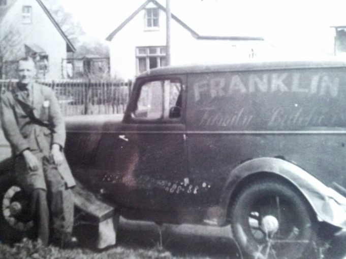 Charlie Simpson outside his home in Hengist Gardens, with the Franklin's van.
