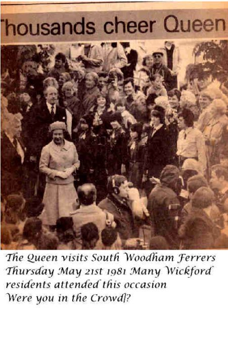 The Queen comes to Essex May 1981
