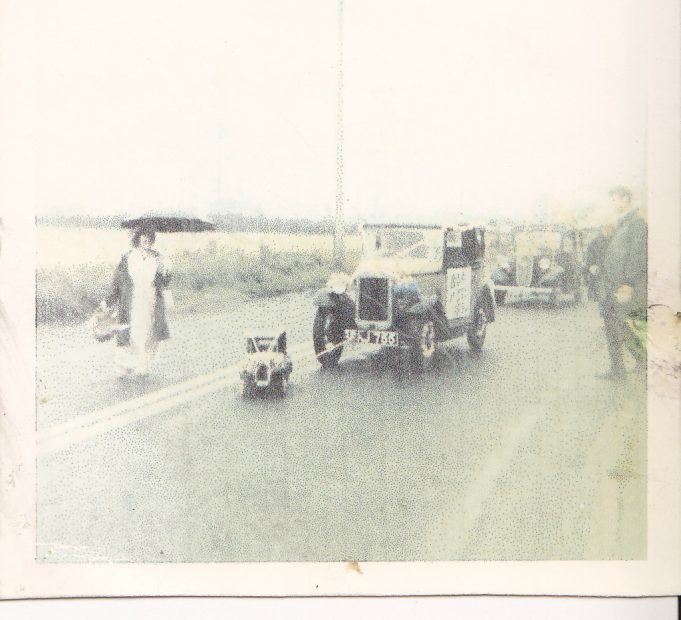 Wickford Carnival 1967 at Shotgate. Heavy rain caused local flooding