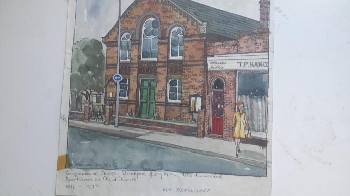 1972, the Congregational Church on Wickford High Street. Having been there since 1811, it was soon afterwards demolished.