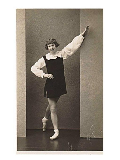 Peggy Fox, another daughter of Florence, in dance pose. | Don Hill