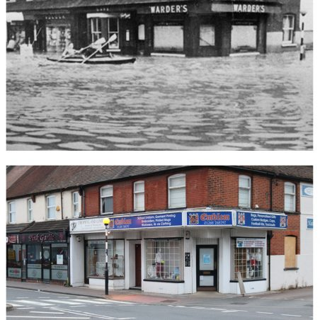 Wickford scenes, then and now.