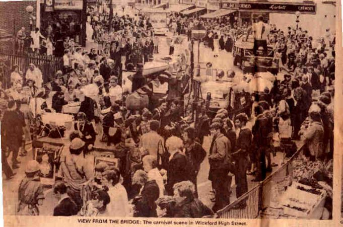 A crowded Wickford High Street