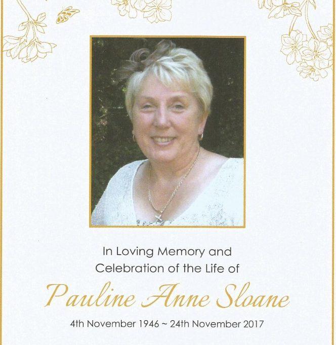 Paula Sloane (November 1946-November 2017)