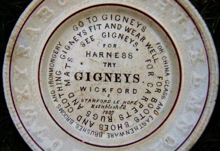 Gigney 'advertising plate' found.