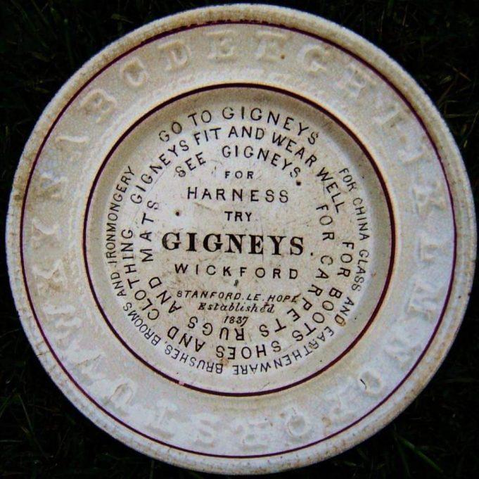 Gibney advertising plate