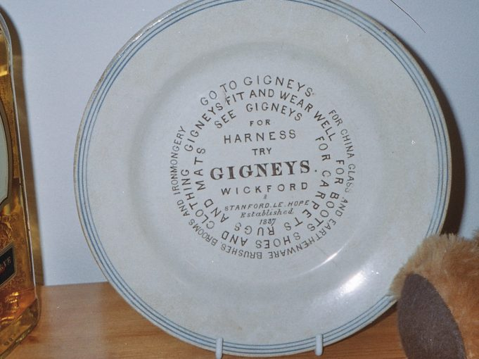 Gigney 'advertising plate' - the original.